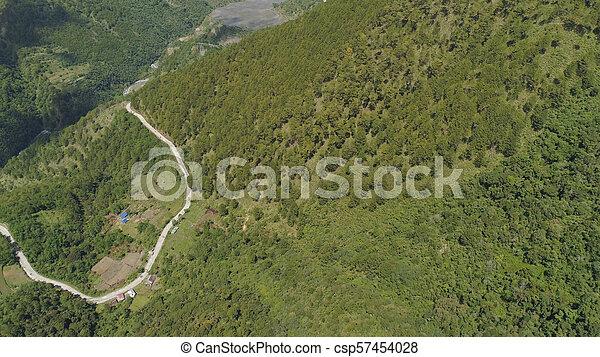 山, 島, luzon, 道, フィリピン。 - csp57454028
