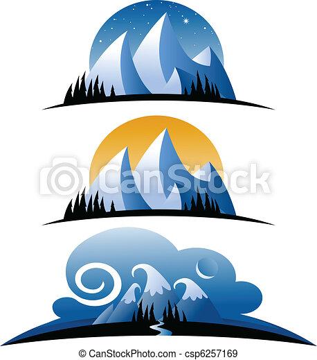 山, 漫画 - csp6257169