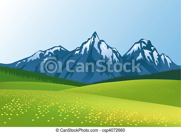 山, 背景 - csp4072660