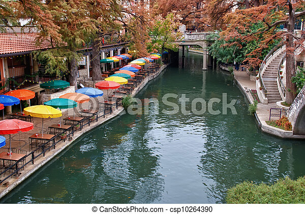 川, 歩きなさい, san, テキサス, antonio - csp10264390