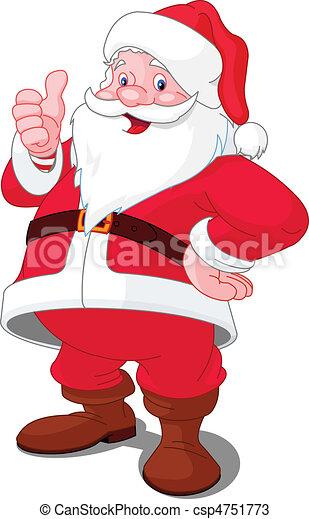 幸せな クリスマス, santa - csp4751773