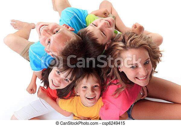 幸せ, 子供 - csp6249415