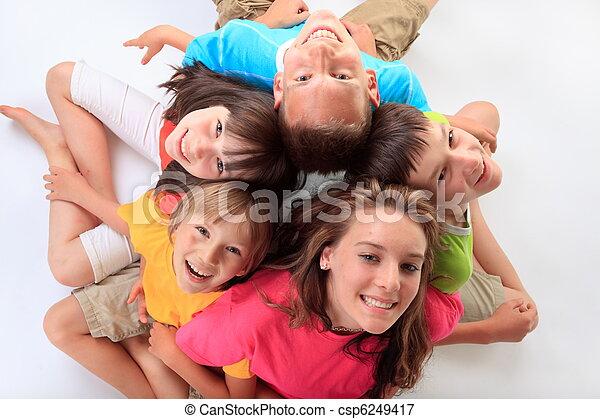 幸せ, 子供 - csp6249417