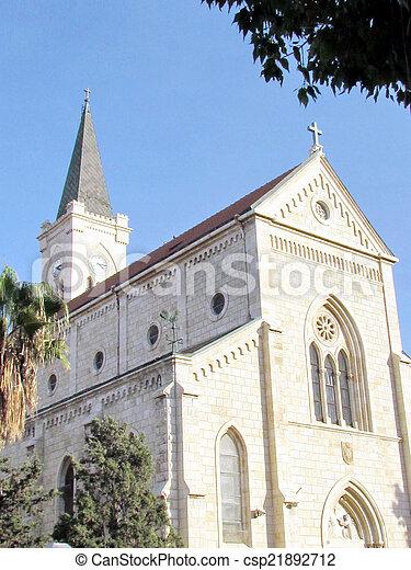 建物, 教会, 2011, jaffa, franciscan - csp21892712