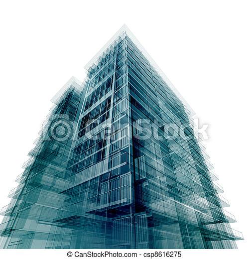 建物, 現代, オフィス - csp8616275