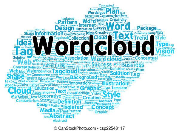 形, 単語, 雲 - csp22548117