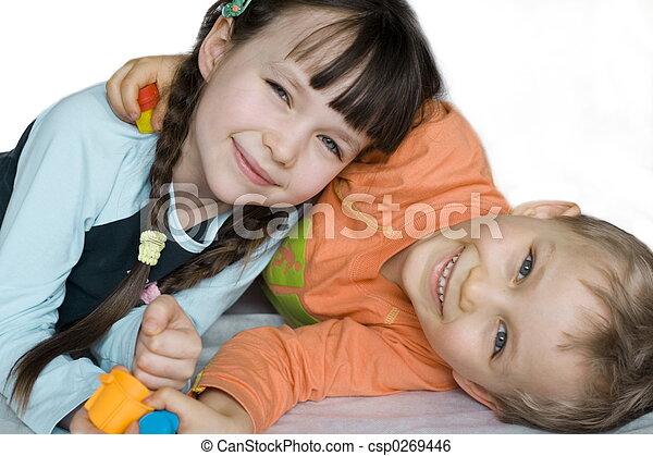 微笑, 子供 - csp0269446