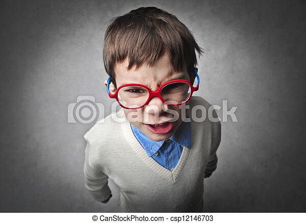 怒る, 子供 - csp12146703