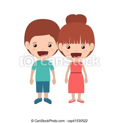恋人, 子供, 微笑 - csp41530522