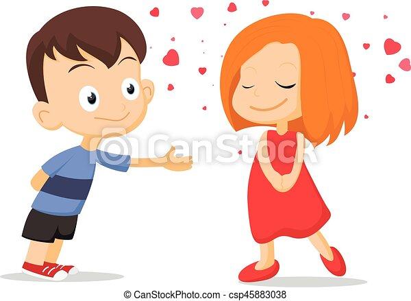 恋人, 子供, 愛, 落ちる - csp45883038