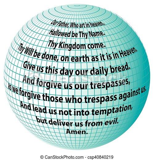 惑星, 私達の, 父, 祈とう - csp40840219