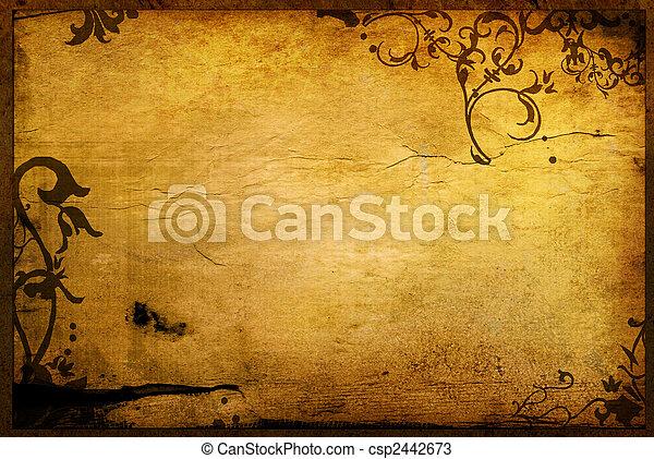 手ざわり, 花, スタイル, 背景, フレーム - csp2442673