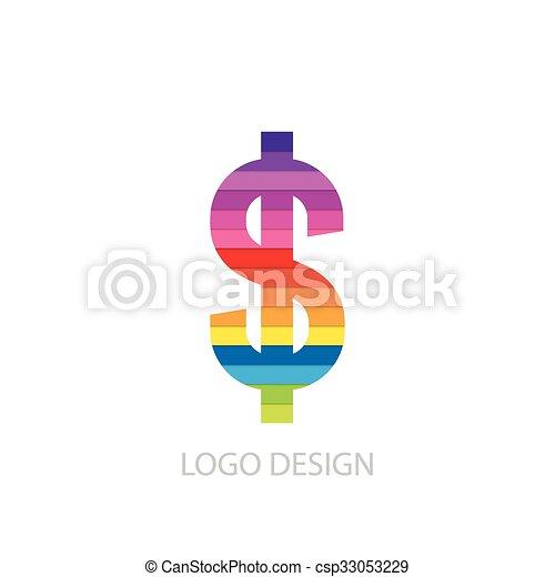手紙, ロゴ, ベクトル, イラスト, カラフルである - csp33053229