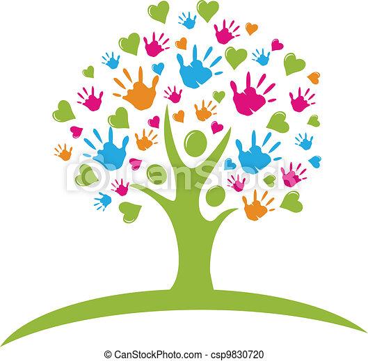 手, 心, 木, 数字 - csp9830720