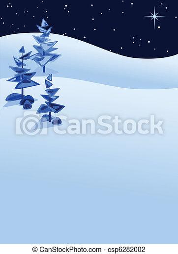 抽象的, 冬の景色 - csp6282002