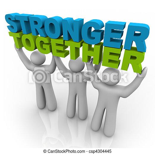持ち上がること, -, より強い, 言葉, 一緒に - csp4304445