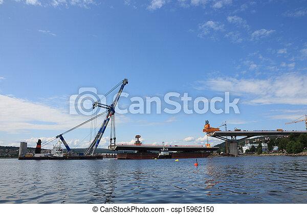 持ち上げられる, 橋, てんま船 - csp15962150