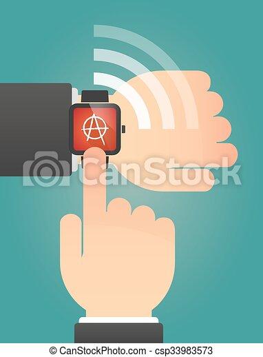 指すこと, 腕時計, 印, 手, 無秩序, 痛みなさい - csp33983573