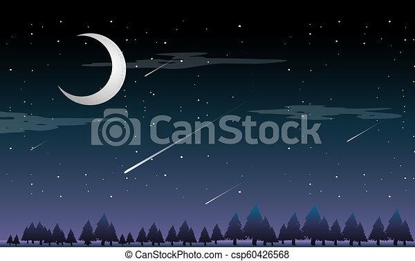 撃つ 星, 夜 - csp60426568