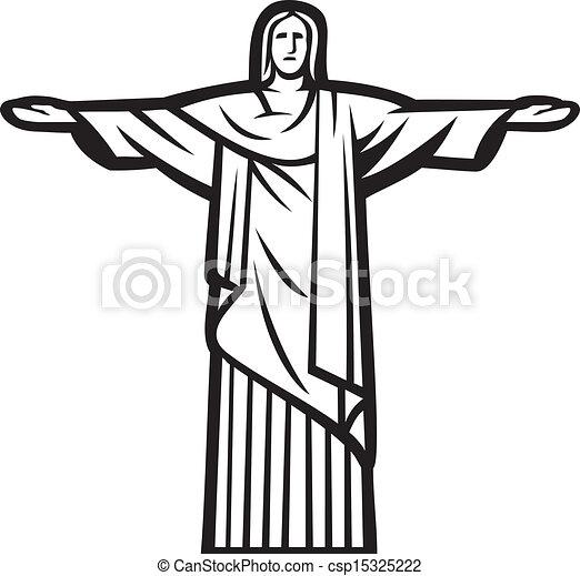 救助者, キリスト, 像 - csp15325222
