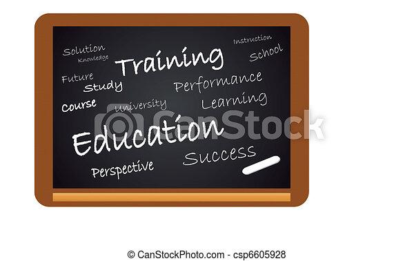 教育, 黒板 - csp6605928