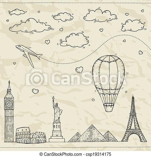 旅行観光, illustration. - csp19314175