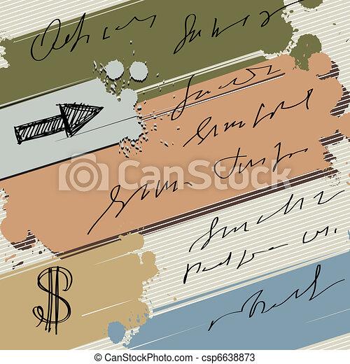旗, カラフルである, はね返し, ドル, 背景, ベクトル, スケッチ, 矢, インク - csp6638873