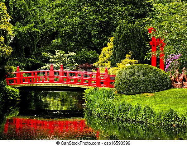 日本の庭 - csp16590399