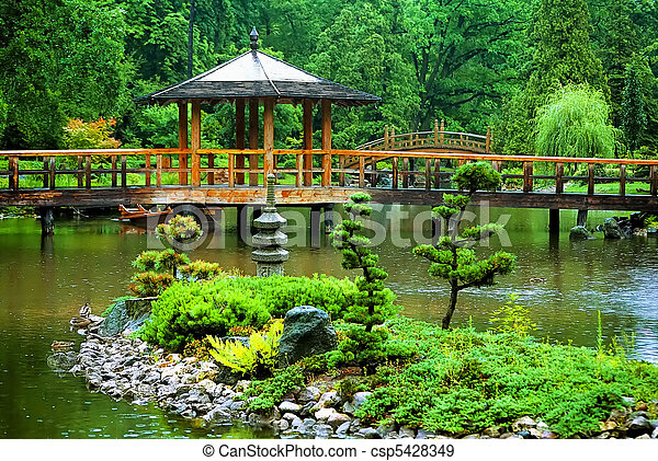 日本の庭 - csp5428349