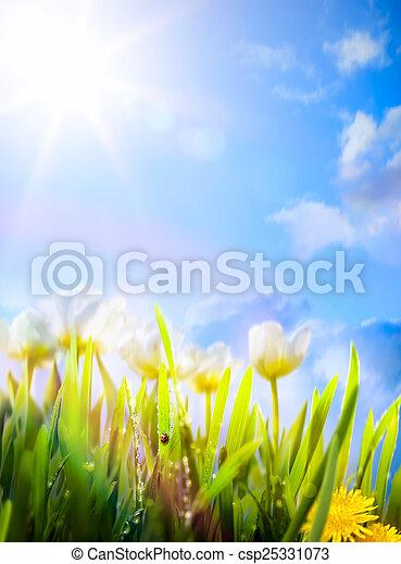 春の花, 芸術, 背景 - csp25331073