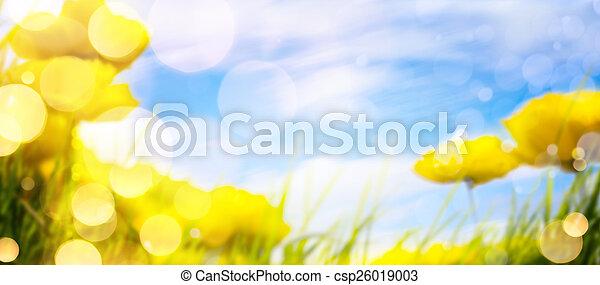 春, 芸術, 背景 - csp26019003