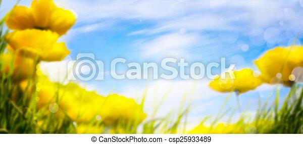 春, 芸術, 背景 - csp25933489