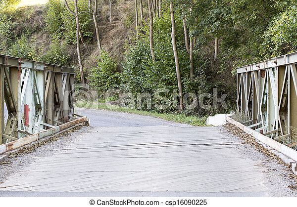 木製の橋, 古い - csp16090225