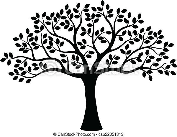 木, シルエット - csp22051313
