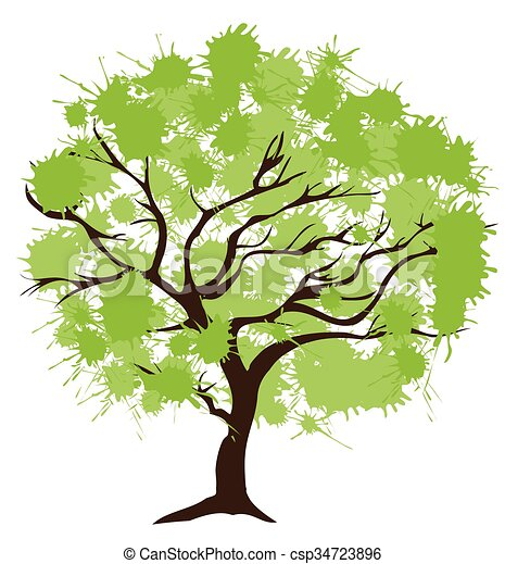 木, 抽象的 - csp34723896