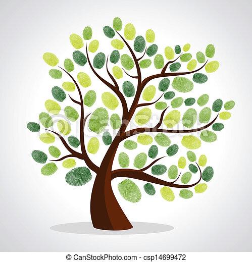 木, 指, 背景, セット, プリント - csp14699472