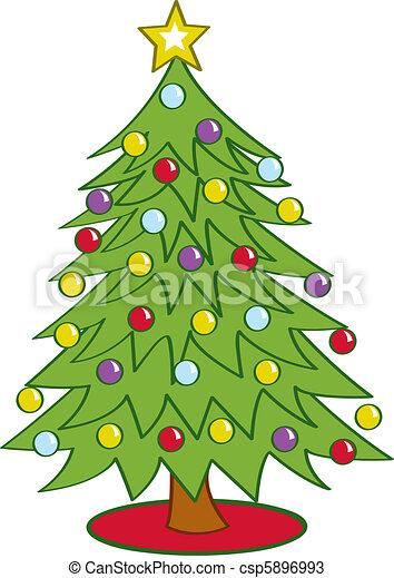 木, 漫画, クリスマス - csp5896993