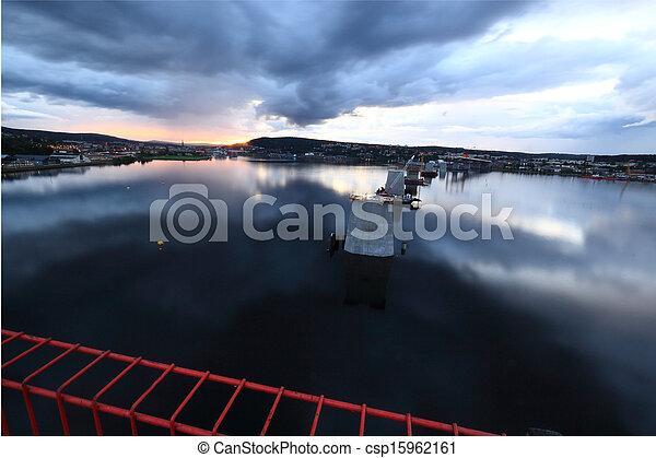 柱, 橋, フェンス, 保護である - csp15962161