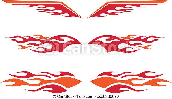 棒, 炎, 暑い - csp6380070
