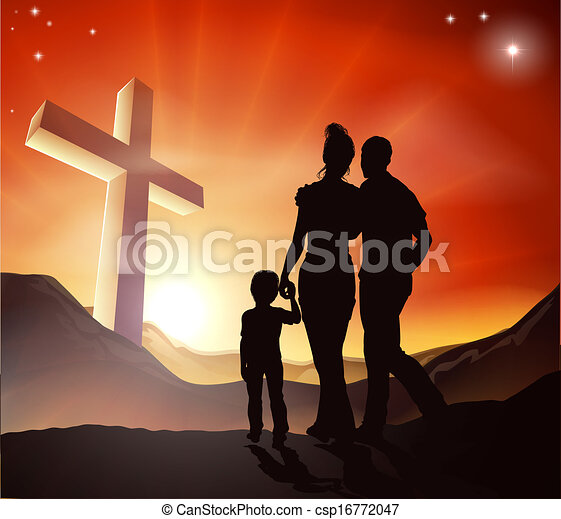 概念, キリスト教徒, 家族 - csp16772047