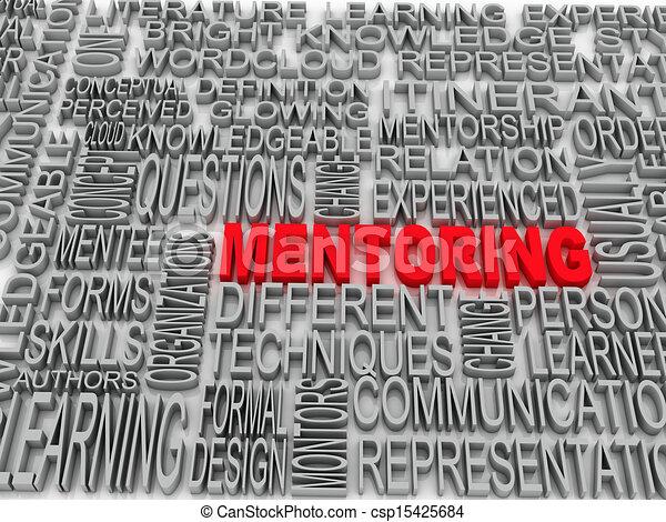 概念, 単語, タグ, チームワーク, mentoring, 雲 - csp15425684