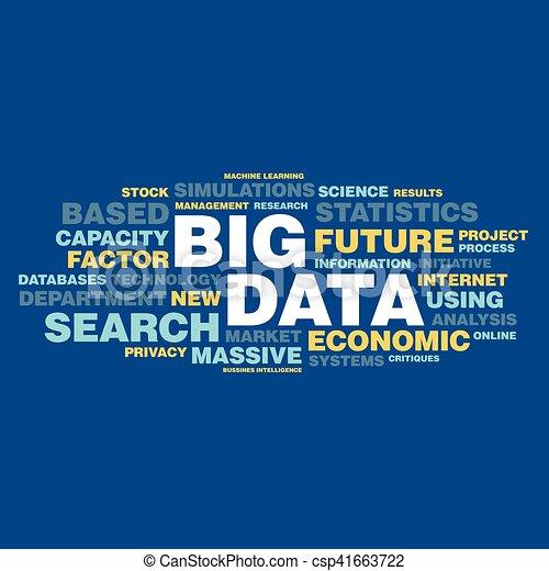 概念, 単語, 大きい, タグ, データ, 雲 - csp41663722