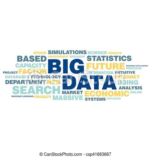 概念, 単語, 大きい, タグ, データ, 雲 - csp41663667