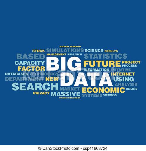 概念, 単語, 大きい, タグ, データ, 雲 - csp41663724