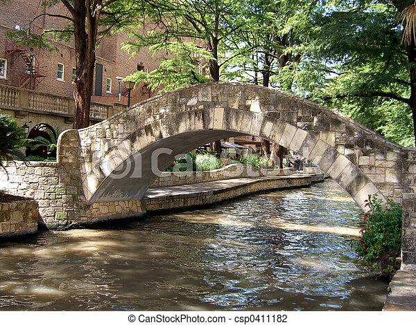 橋, 上に, 川 - csp0411182
