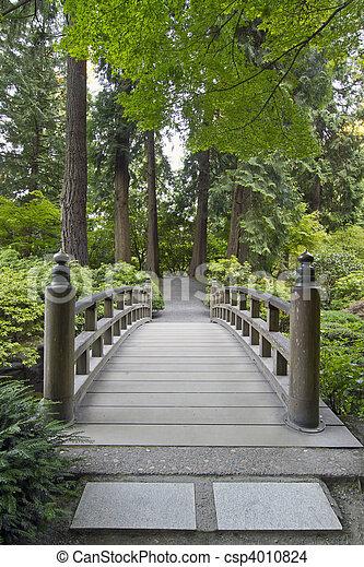 橋, 木, 庭の日本人 - csp4010824
