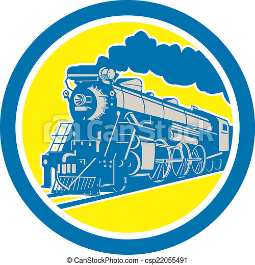 機関車, 円, 列車, レトロ, 蒸気 - csp22055491
