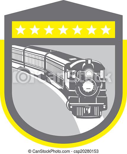 機関車, 列車, 蒸気, レトロ, 保護 - csp20280153