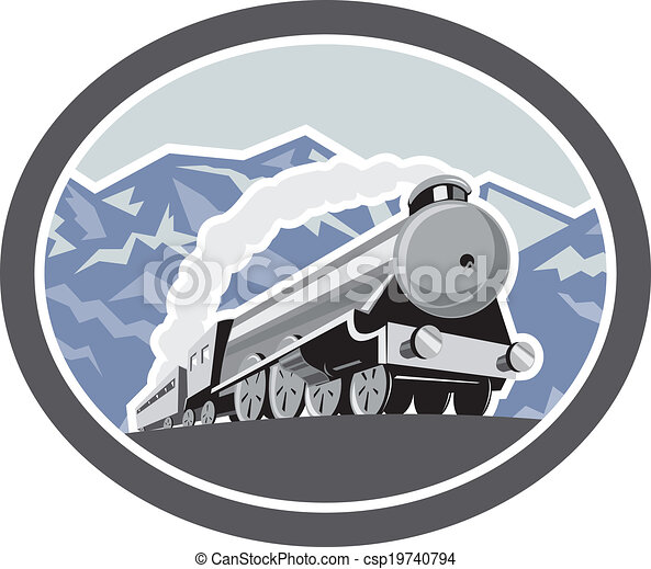 機関車, 山, 列車, レトロ, 蒸気 - csp19740794
