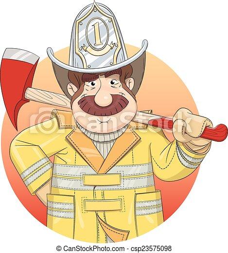 消防士, ax., ユニフォーム - csp23575098